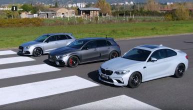 Mercedes-AMG A 45 vs BMW M2 Competition vs Audi RS 3 Sportback