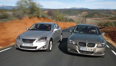 bmw 318d lexus is 200d comparativa cara a cara movimiento diesel berlinas