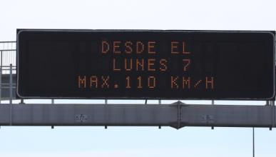 El Supremo rechaza suspender el límite de 110 km/h