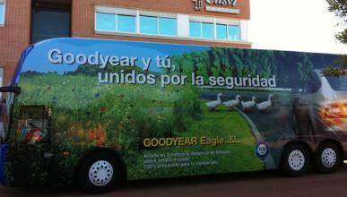 El Autobús Goodyear de Seguridad Vial recorre Madrid y Barcelona