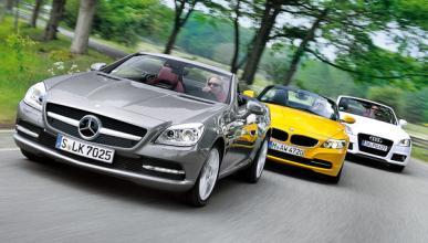 mercedes slk 250 audi tt roadster bmw z4 delantera comparativa