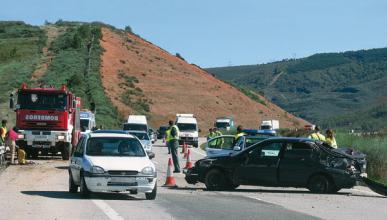 Más accidentes de coches que de motos