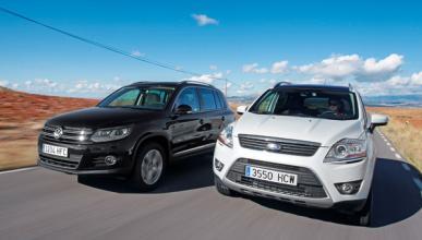 ford-kuga-tdci-140-nuevo-volkswagen-tiguan-tdi-140-frontal-dinamica