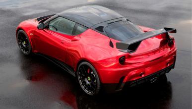 Lotus Evora GTE Red-Chrome trasera