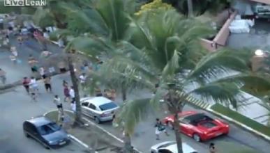 Ataque a un Ferrari F430 Spider en Brasil