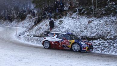 Sébastien Loeb, líder en el Rally de Montecarlo 2012