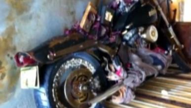 Llega a Canadá una Harley arrasada en el 'tsunami' japonés