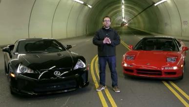 Honda NSX frente a Lexus LFA: duelo de infarto