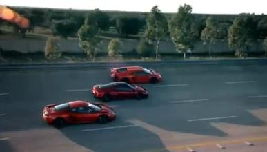 Aventador, MP4-12C y M600: duelo de los chicos de Top Gear en Nardo