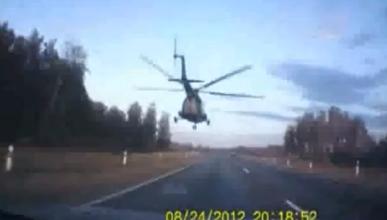 Nueva locura rusa: adelantamiento de un helicóptero