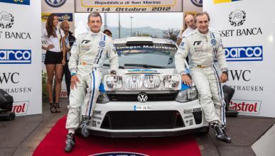 Carlos Sainz con el Volkswagen Polo WRC en el Rally Legend