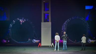 'Top Gear Live' logra el récord de doble loop en moto