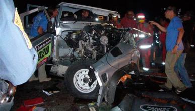 Rally Dakar 2013: Dos muertos en un accidente de tráfico
