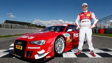 Miguel Molina presenta su nuevo Audi RS 5 DTM en Montmeló