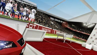 El Seat León SC calienta el partido Madrid-Atleti