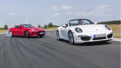 Comparativa Jaguar F-Type vs 911 cabrio