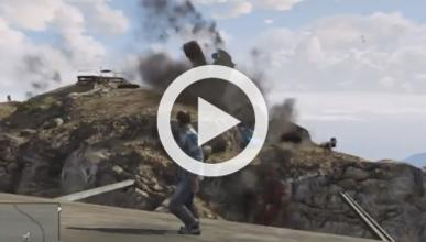 Vídeo: explotando un centenar de coches a la vez en GTA V