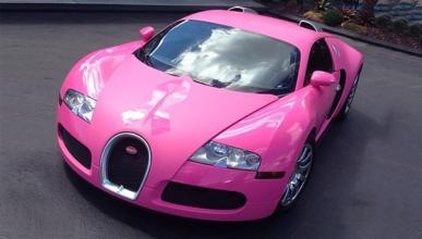 Flo Rida pinta su Bugatti Veyron de rosa