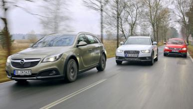 Audi A4 allroad, Opel Insignia Country Tourer y VW Passat Alltrack