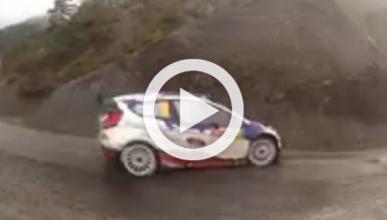 Vídeo WRC: Bouffier no se cae por un terraplén ¡de milagro!