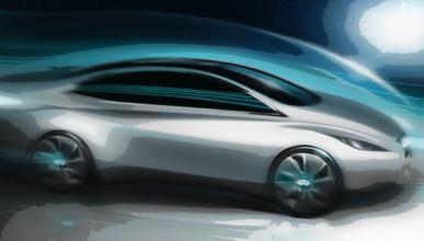 Infiniti muestra un dibujo de su primer vehículo eléctrico