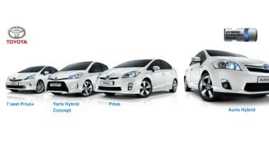 Toyota, primera opción en coches híbridos y eléctricos