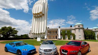 Escultura Jaguar E-Type Goodwood Festival of Speed xf xk xj