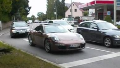 Cazado el Porsche 911 991 casi sin camuflaje