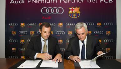 Audi, coche del Fútbol Club Barcelona hasta 2014