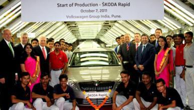 El Skoda Rapid inicia su producción en la India