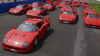 Ferrari F40: 25º aniversario en el Silverstone Classic