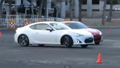 Derrapadas a bordo de dos Toyota GT 86 en Japón
