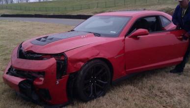 En 'Top Gear' tienen un accidente con un Chevrolet Camaro