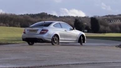 Chris Harris derrapa a tope con el Mercedes C 63 AMG