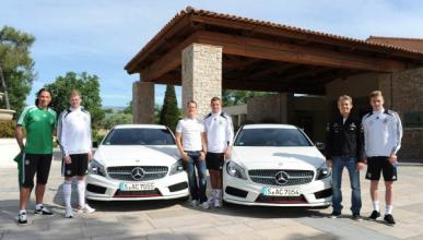 Schumacher y Rosberg con la Selección Alemana y el Clase A