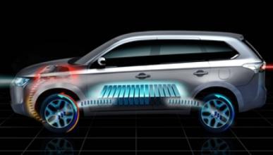 El nuevo Mitsubishi Outlander Plug-in Hybrid EV, en París