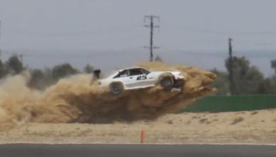 Accidente de un Ford Mustang a más de 200 km/h
