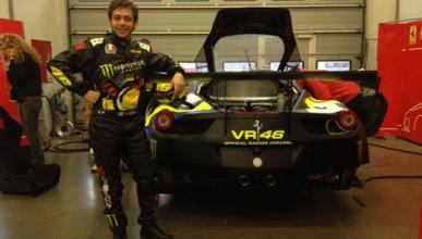 Valentino Rossi corrió con un Ferrari en Nürburgring