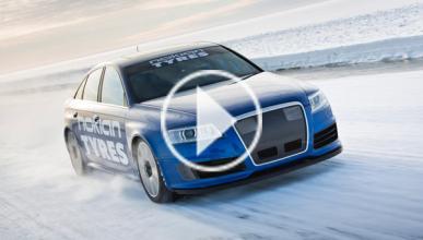 Récord: un Audi RS6 alcanza los 335 km/h sobre hielo