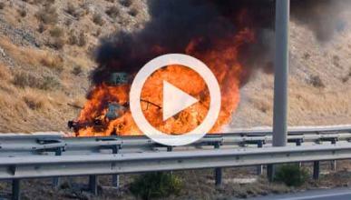 Segundo Tesla Model S que arde tras un accidente: vídeo