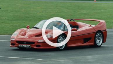 Derrapando con el Ferrari F50 a cámara lenta