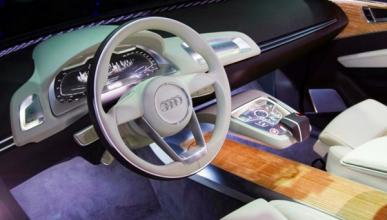 Los futuros interiores iluminados de Audi... O del Audi A8