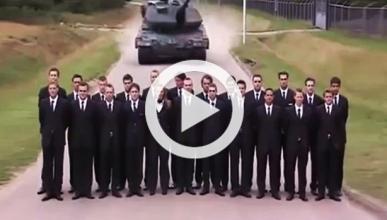 Vídeo: así se prueba la frenada de emergencia de un tanque