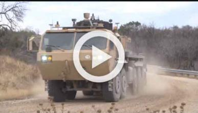 Vídeo: los camiones del ejército americano conducen solos