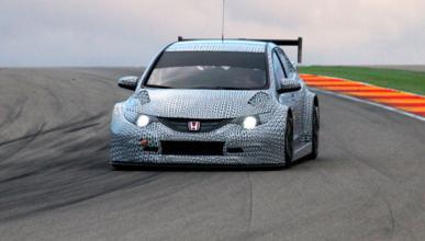 El nuevo Honda Civic WTCC, de pruebas en Motorland Aragon