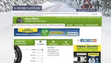 Rezulteo logra el 10% de las búsquedas de neumáticos online