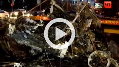 Un Ferrari 360 Spider, envuelto en llamas tras un accidente