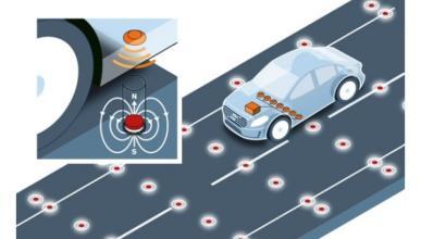 La conducción autónoma de Volvo: imanes en la carretera