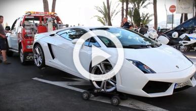 Llevarse un Lamborghini Gallardo en grúa no es tan fácil