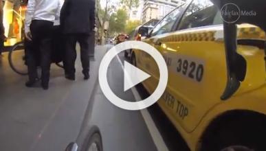 ¿Ciclista o cliente? ¿Quién es culpable de este accidente?